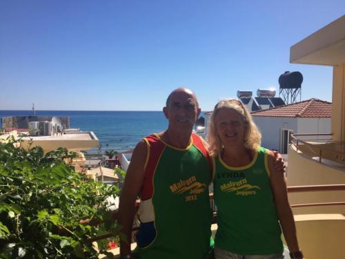 Lynda and Mike in Crete
