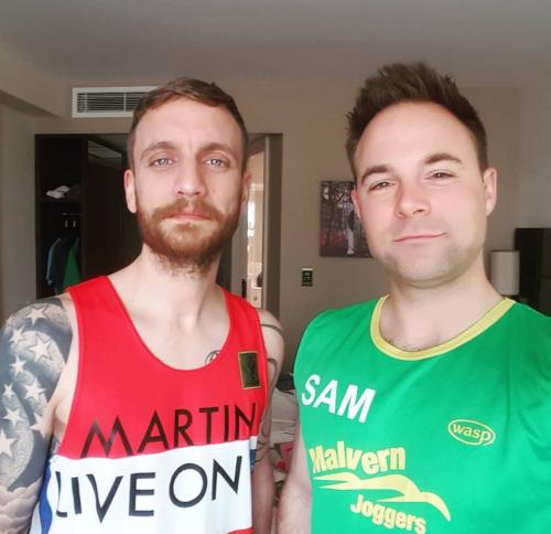 London Marathon 2018 Martin Reed Darby and Sam Eden